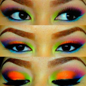 Eye makeup – spring rave eye makeup art design